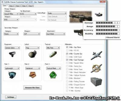 Classes Customize Tool & Mode для Call of Duty: Black Ops